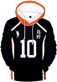 Cosplay Haikyuu Hoodie Sweatshirt volleyball anime haikyuu Figure Uniform Adult Kids Casual Long Sleeve 3D Pullovers Anime Japan