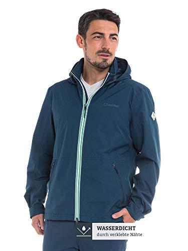 Schöffel Herren Jacket Pittsburgh3 bequeme Herren Jacke mit Sicherheitstasche, wetterfeste Übergangsjacke mit integrierter Packtasche, dress blues, 50