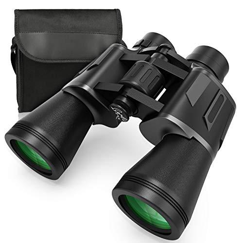 Ferngläser, Zaeel 12x50 Fernglas HD Kompaktes Teleskop Wasserdicht Feldstecher für Vogelbeobachtung, Wandern, Jagd, Tierbeobachtungen, Besichtigen, mit Objektivkappen, Säuberungstuch und Tragetasche
