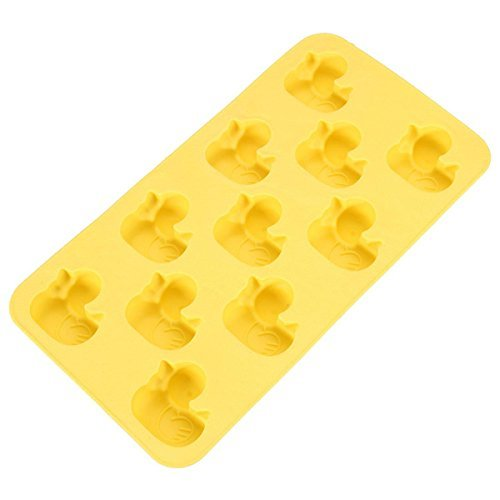 Funny Shaped Silicone Mold For Chocolate, Ice Cube Tray Party and Favors (Duck)