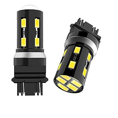 2PCS 3156 3157 LED Bulb High Power 3157 3457 3057 4157 3056 6000k White Brake Lights 18SMD-5630 Chipsets Led Bulb for Brake Lights