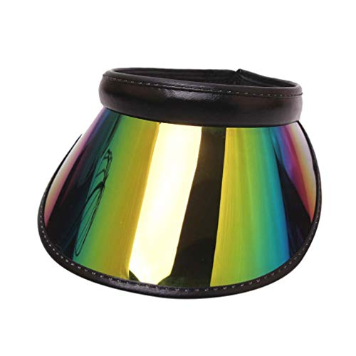TENDYCOCO Visera para El Sol Gorra Protección UV Borde Ancho Sombreros Ajustables Holográficos para Mujeres Colores Surtidos