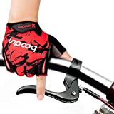 iwish Halb-Finger-Handschuhe für Kinder, dünn, Outdoor, Sport-Handschuhe, Fahrrad-Handschuhe für Kinder Größe L rot