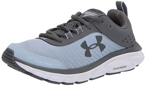 Under Armour Women's Charged Assert 8, Isotope Blue (402)/White, 8.5 M US