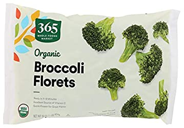 365 by Whole Foods Market, Frozen Organic Vegetables, Broccoli Florets, 16 Ounce