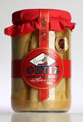 Bonito del Norte en aceite de oliva 1,6Kg tarro crsital Ortiz por Zapore Jai