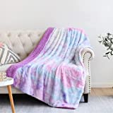 NEWCOSPLAY Super Soft Faux Fur Throw Blanket Premium Sherpa Backing Warm and Cozy Throw Decorative for Bedroom Sofa Floor (Thick-Multi Purple, Throw(50'x60'))