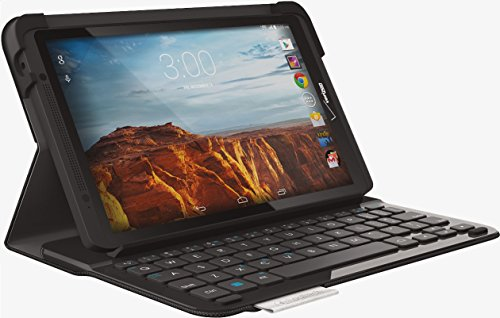 Logitech Type-V Ellipsis 8 Protective Case Integrated Bluetooth Keyboard Folio Thin & Light - Black