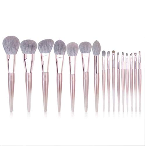 PPMSHUAY Make-Up Pinsel 16 Stücke Acryl Rose Gold Make-Up Pinsel Set Professionelle Schönheit...