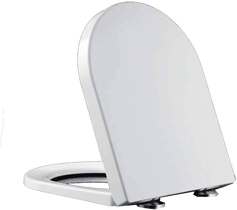 Yanlf Urea-formaldehyde Toilet Seat Universal Toilet Cover U-v Type Thickening Toilet Bowl Cover,E