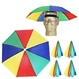 The Looney Zoo - Rad Rainbow Umbrella Hat - Easy Elastic Fitting Umbrella Hat for Adults & Kids - | Funny Hat/Gardening Hat/Beach Hat/Adventure Hat/Party Hat :) |