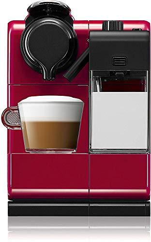 NESPRESSO  Cafetera Lattissima Touch, Color Roja (Incluye obsequio de 14 cápsulas de café)