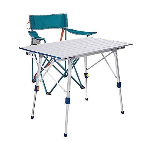 Petite Table de Camping Portable Ultra-Légère Pliante avec Plateau en Aluminium et Sac de Transport Facile a Transporter Facile a Nettoyer pour Le Camp de Pique-Nique Bateau de Plage Barbecue