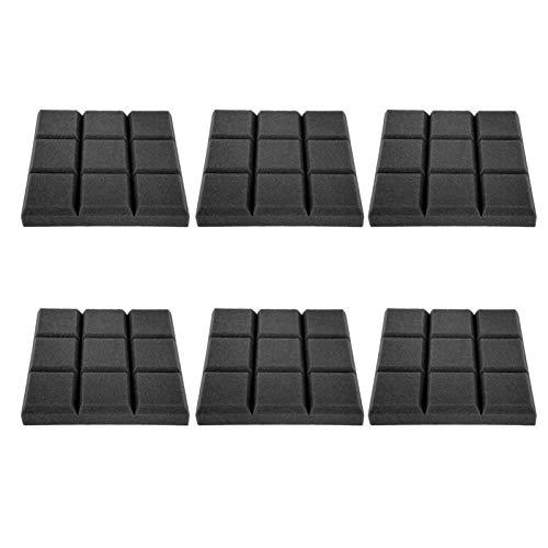Paquete de 6 paneles acústicos Paneles absorbentes Paneles de aislamiento acústico para paredes Home Studio(Negro)