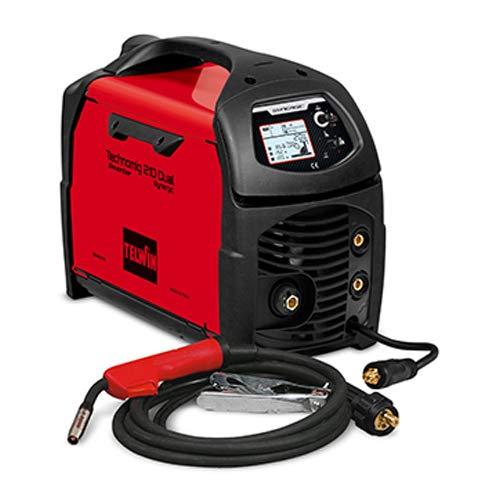 Telwin 816055 Technomig 210 Dual Synergic Drahtschweißgerät mit Invertertechnik, 230V, 50-60Hz, 1ph