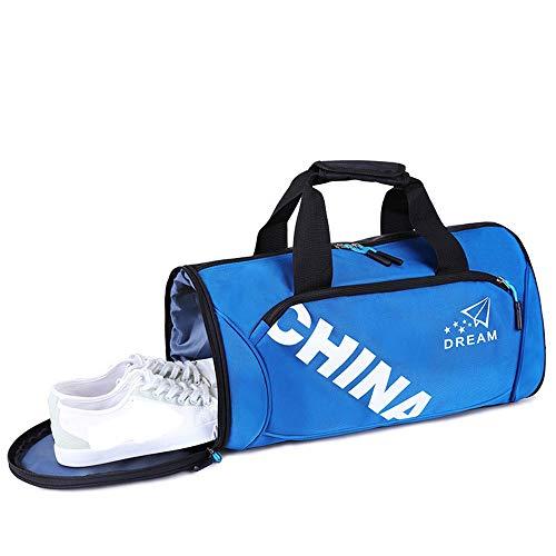 XuZeLii Erotische Unterwäsche Herren Fitnesstasche Herrenschuhe Sporttraining Tasche und Schuhschrank Spitze Spitze Paar Unterwäsche (Color : Blue, Size : L)