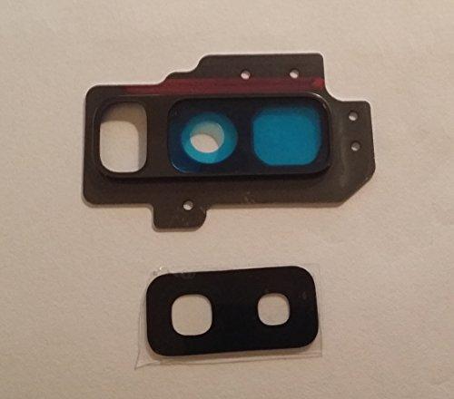 Ricambio vetro per cover posteriore vetrino scocca lente obbiettivo + Cornice x fotocamera BACK camera + BIADESIVO ADESIVO PER SAMSUNG GALAXY S9 PLUS   S9+ G965F G965 (BLU)