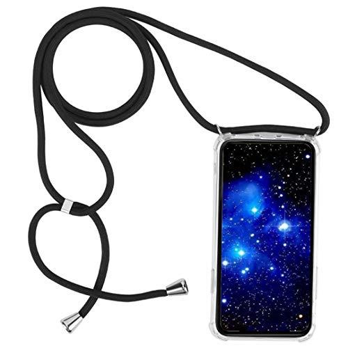 1stfee Compatible con Funda para SamsungGalaxyA72017/A720 Funda para teléfono móvil con cordón Transparente TPU Diseño de Protección Anti-Shock Cover
