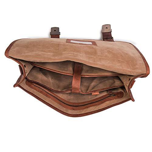 Berliner Bags Schultertasche Umhängetasche Messenger Laptoptasche 15,4 15,6 Zoll Ledertasche Vintage Collegetasche Braun