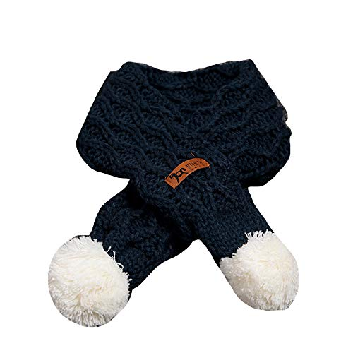 Buy and buy at Brandon Baby Scarf Winter Boy Baby Girl Soft Warm Wool Scarf Children's Wild Ball ScarfNavyA