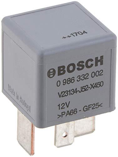 Bosch 0986332002, Mini-Relais 12V 70A, IP5K4, Betriebstemperatur von -40° C bis 85° C, Schließer-Relais, 4 Pins