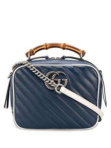 Luxury Fashion | Gucci Dames 6022700OLFN4186 Donkerblauw Leer Handtassen | Lente-zomer 20
