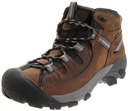 Big Sale KEEN Men's Targhee II Mid Waterproof Hiking Boot,Dark Earth/Neutral Gray,8 M US