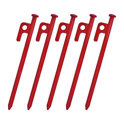 FITYLE a para Clavijas de Camping con Clavijas de Metal de 5 Piezas - Red