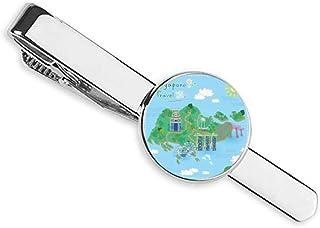 ربطة عنق لخريطة السفر سنغافورة شريط رجال الأعمال