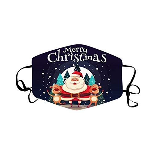 SHUANGA Weihnachten Bedrucktes Multifunktionstuch mit ausgefallenem Design - Hochwertige als Wärm- und Schutztuch - Halstuch, Face Cover, Gesichtsmaske - Verschiedene Muster