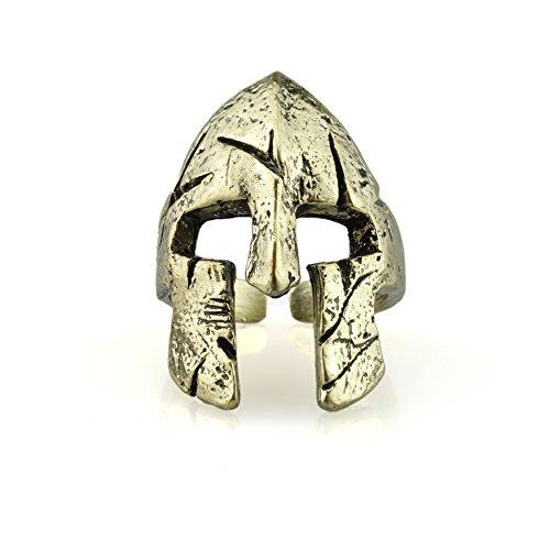 Urbantimber, anello spartano a forma di elmo e base metal, colore: gold, cod. 4005G-U