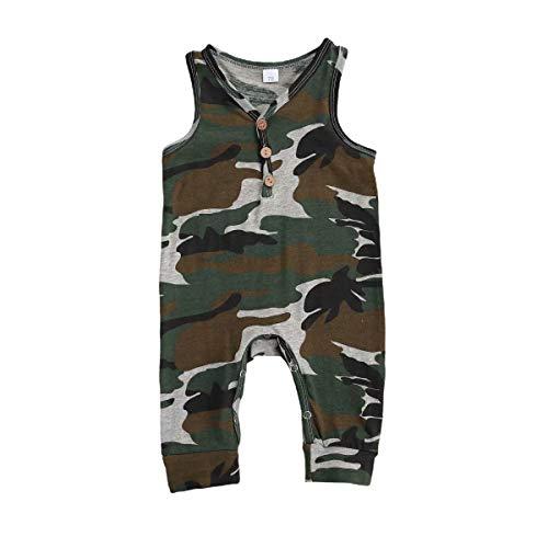 Chaochao - Pelele para bebé o niño, de verano Camouflage Longue 6-12 Meses