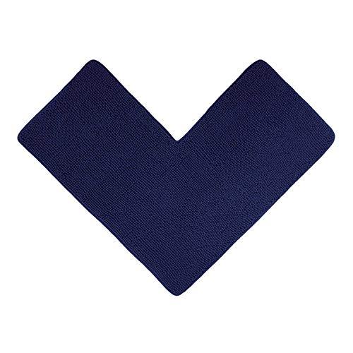WohnDirect Tappetino da Doccia angolare Blu Scuro - Ideale per cabine Doccia quadrate, può Essere Combinato in Un Set, Antiscivolo e Lavabile - Tappeti da Bagno & tappeti - 50 x 100 x 100 cm