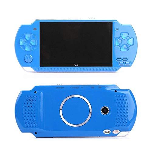 QCHEA 4.3 Pulgadas Pantalla Handheld Game Console MP4 MP5 Player Videojuegos clásicos con función de la cámara, Libro electrónico, Mejor cumpleaños y Regalos de año Nuevo para niños