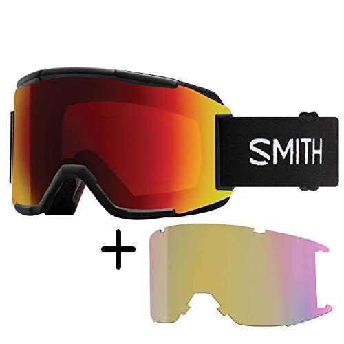 Smith Squad - Gafas de esquí para hombre, color negro