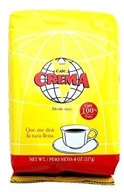 Cafe Crema - Ground Coffee from Puerto Rico - 8 oz (Count of 4)