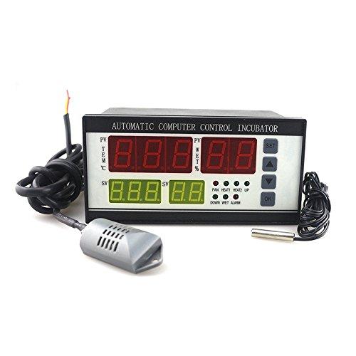 huatuo termostato Digital controlador multifunción/Incubadora Automática de Huevos de Aves Gallinas Patos, Sensor de Temperatura para incubateur de pequeña talla (ES-18)