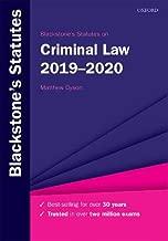 Blackstone's Statutes on Criminal Law 2019-2020