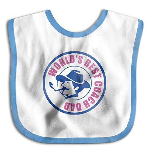 PANK11 Baby World's Best Coach Dad2 Feeder Bibs Girls Boys Funky Drooler Bibs Burp Cloth Stain Resistant