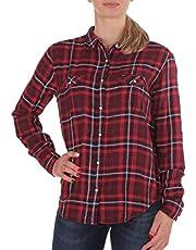 Lee Dames Hemd Regular Western Rood Geruit (Wrap Red)