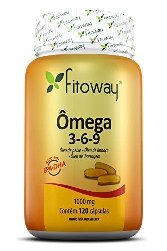 Omega 3-6-9 Fitoway - Peixe + Linhaça + Borragem 1.000Mg - 120 Cáps, Fitoway