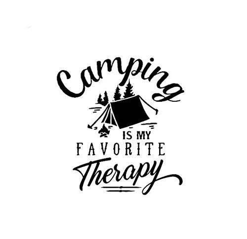 Vinilo Pegatina Camping Terapia para Coches, caravanas, Jeep, autocaravanas, campistas Habitaciones Camping Tiendas Aire Libre 25 X 25 cm de CHPYHOME