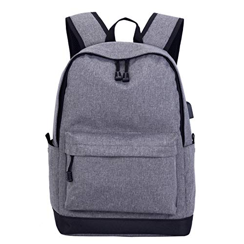 QIANJINGCQ Mochila de moda simple carga usb ocio bolsa de viaje al aire libre computadora hombres y mujeres mochila impermeable para estudiantes de secundaria y universitaria