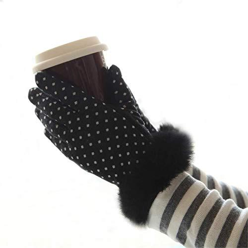 JIAHE115 Mini-handschoenen, werkhandschoenen, outdoor-handschoenen, herfst en winter, dubbele en dikke fluwelen tip warme wollen handschoenen, minuut, aandrijvingsslip, dunne PU-studenten