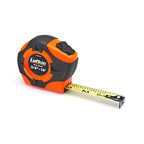 "Crescent Lufkin 3/4"" x 16' Quikread Power Return Yellow Clad Tape Measure - PQR1316N"