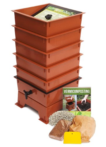 Discover Bargain Worm Factory DS5TT 5-Tray Worm Composter, Terra Cotta