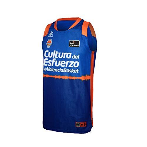 Valencia basket Camiseta de Juego Azul ACB, Hombres, XL