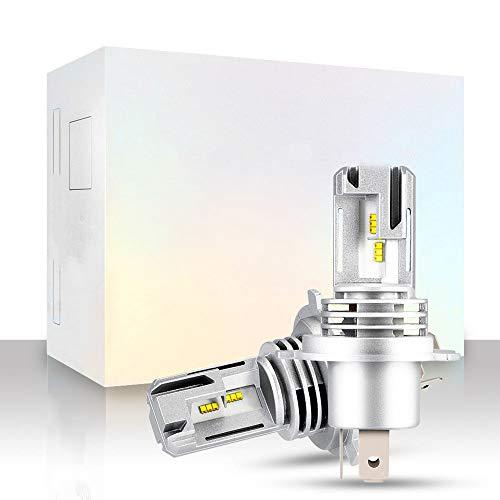 wolfjuvenile H1 / H3 / H4 / H7 / H11 / 9005/9006 1000LM 55W Super Bright LED Kit de conversión de Faros, 6000K Beam Lampe Kit de conversión Todo en uno Lámparas Luces de halógeno y Kit de xenón,H4