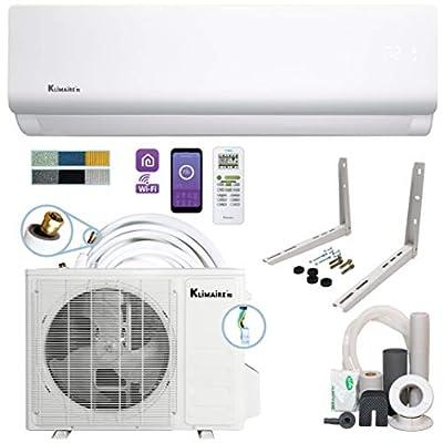 Klimaire DIY 18,000 BTU 19 SEER Mini Split Heat Pump Air Conditioner w/ 25-ft Pre-Charged Quick-Connect Installation Kit - 230V