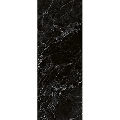 Decowatt Radiateur Électrique Design Marbre Noir 45x120 cm, en Verre trempé, 650W, fabriqué en France